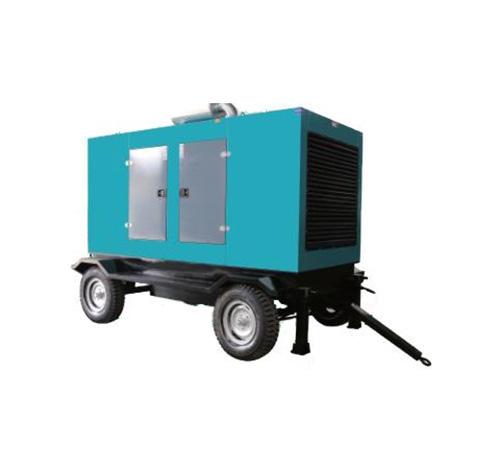 Mobile trailer diesel generator set